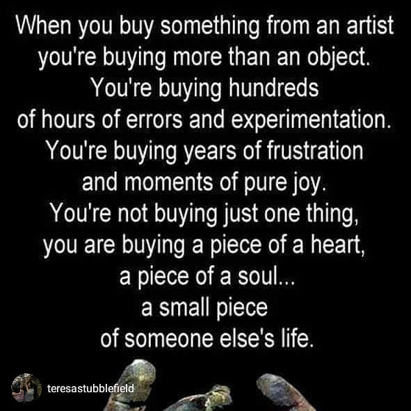 For REAL though! This is true of ALL artists no matter the discipline or medium.